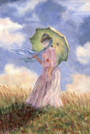 Green Parasol by Kerri Kane