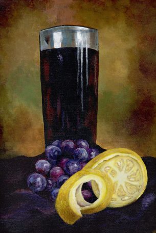 Still Life with Cut Lemon by Kerri Kane