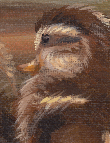 Duckling painting detail - ducklings are so cute aren't they?