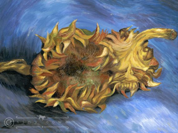 Van Gogh's sunflowers - in acrylics