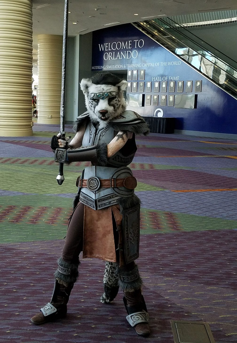 Phew! All done and at MegaCon. Our Khajiit was very popular!
