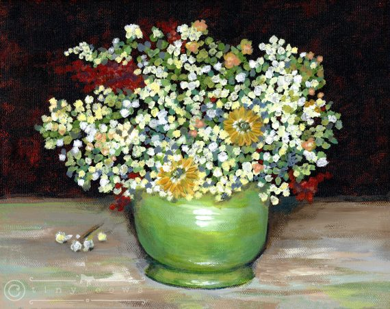 Van Gogh's Green Vase but with yes, you guessed it, acrylic paints