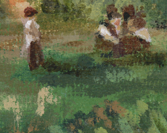 Regatta painting detail - discussing the race I think =D