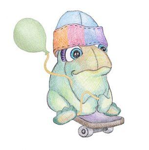 Wheelie Frog
