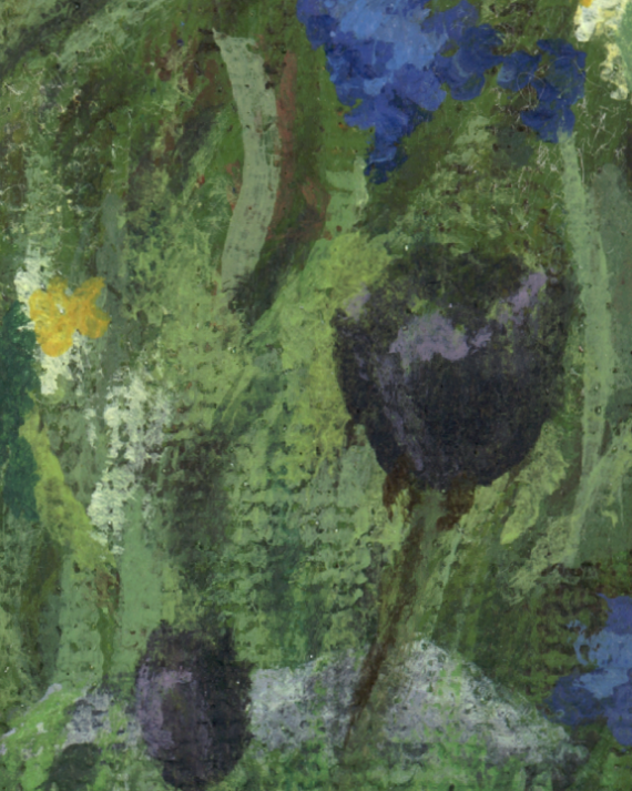 Close up texture from painting - the Queen of Night Tulip