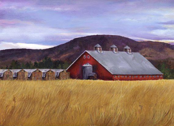 The perfect red barn, Whidbey Island, WA
